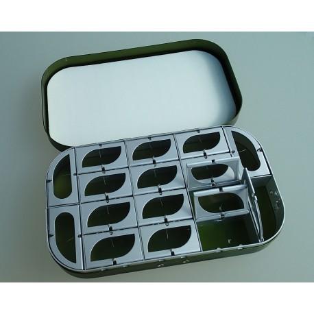16 Schachtel Fliegen-Box