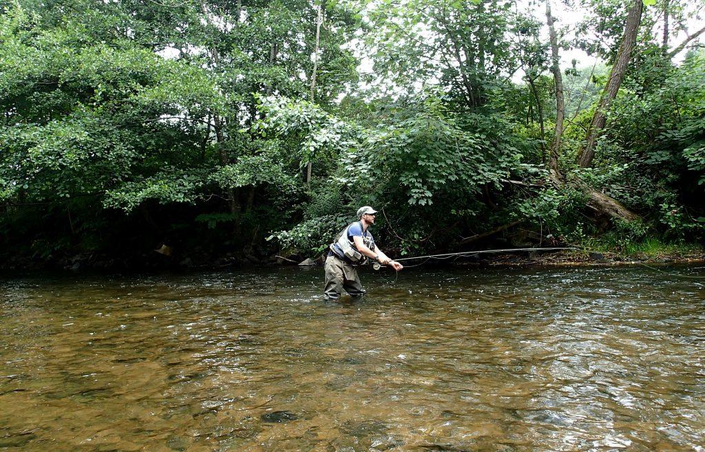 perfectionnement pêche à la mouche sur la Bruche avec C.B.F.