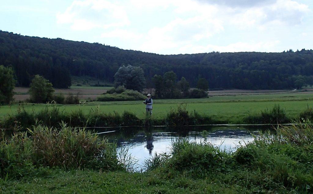 pêche à la mouche sur la Blau en Allemagne