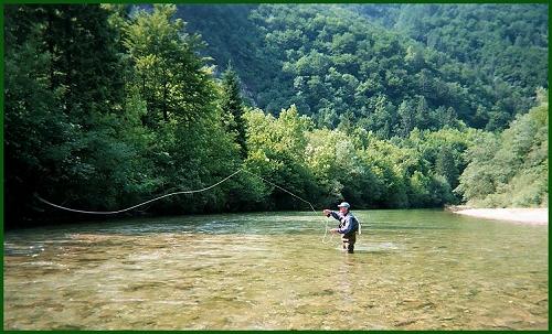 pêche à la mouche en Slovénie avec les mouches de la collection C.B.F.