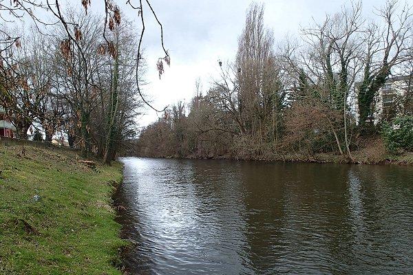 die Bruche in Molsheim mit starkes Wasser