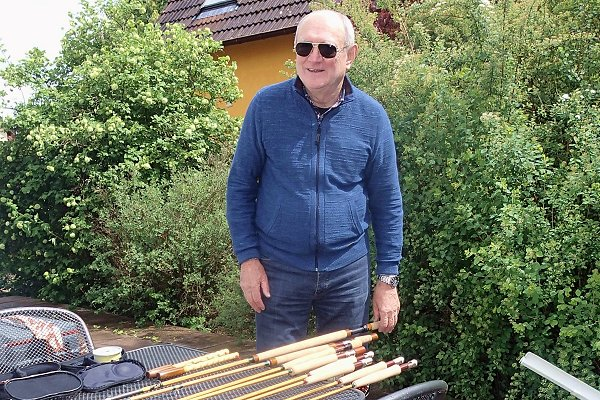 Jean-louis Preisser, master of bamboo rod building, and flyfisher master